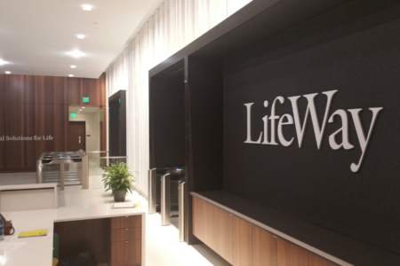 Dimensional Wall Logo for LifeWay Christian Resources/ Downtown Nashville/ 12-Point SignWorks