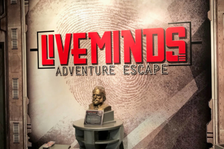 Main Lobby Wall Graphic for Liveminds Adventure Escape!/ 12-Point SignWorks/ Franklin