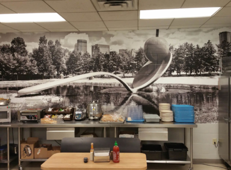 Textured surface wall mural for Loews Minneapolis Hotel. 12-Point SignWorks - Franklin, TN