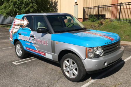 Custom Vehicle Wrap Fabricated & Installed by 12-Point SignWorks/ Franklin