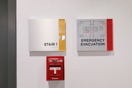 Custom Directional Signage Fabricated & Installed by 12-Point SignWorks