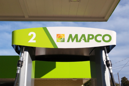 Custom Branding Graphics for MAPCO Express, Inc. in TN, AL, & GA. / 12-Point SignWorks/ Convenience Store Graphics