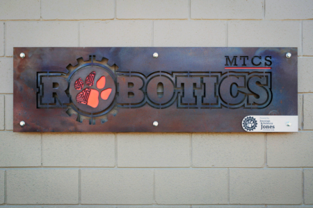 Rustic Metal Sign for Middle Tennessee Christian School/ 12-Point SignWorks/ Custom Logo