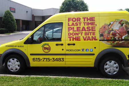 Fleet Graphics/ Van Wrap for Moe's Southwest Grill