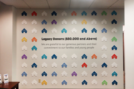 Dimensional Donor Wall Display for Monroe Harding/ Franklin, TN/ 12-Point SignWorks
