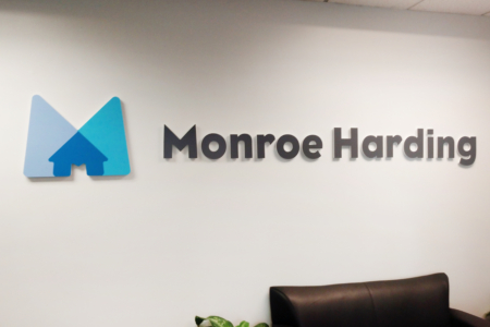 Dimensional Wall Logo for Monroe Harding/ Franklin, TN/ 12-Point SignWorks