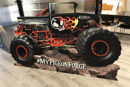 Custom Monster Truck Cutout for Bohan by 12-Point SignWorks.