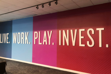 Custom Wall Mural for Deloitte in Nashville, TN printed and installed by 12-Point SignWorks.