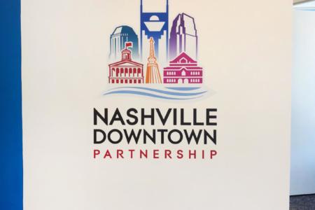 Contour Cut Vinyl Graphic for Nashville Downtown Partnership (NDP)/ 12-Point SignWorks