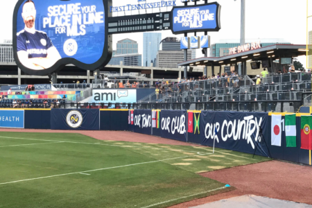 Banners for Nashville Soccer Club Fabricated & Installed by 12-Point SignWorks
