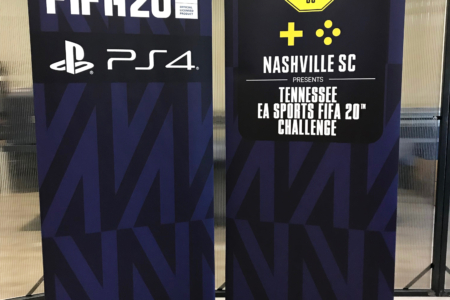 Custom Retractable Banners for the Nashville Soccer Club by 12-Point SignWorks in Franklin, TN.