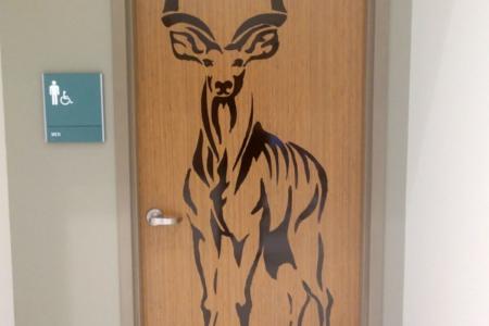 Custom Door Graphics for the Nashville Zoo/ Vinyl Graphics/ 12-Point SignWorks