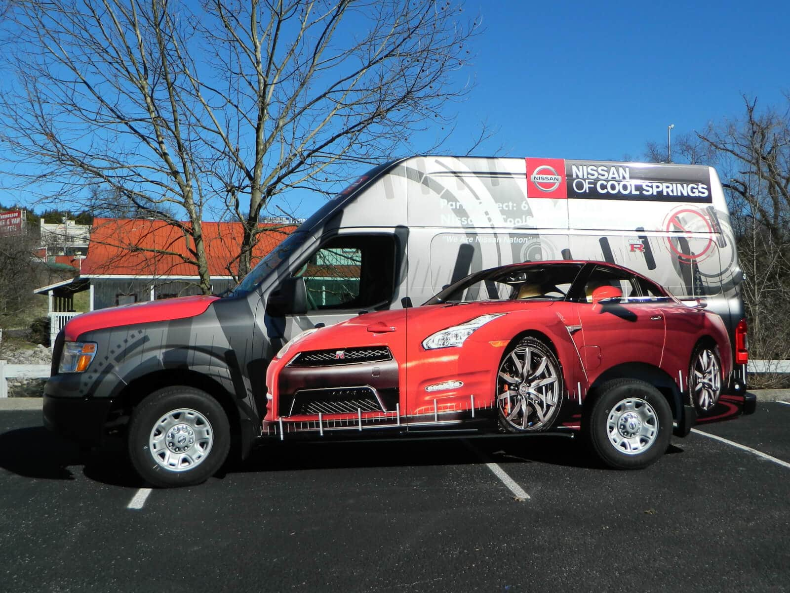 nissan of cool springs vehicle wrap – 12-point signworks