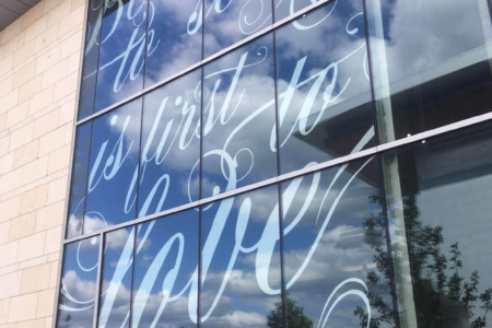 Custom window graphics by 12-Point SignWorks in Franklin, TN.
