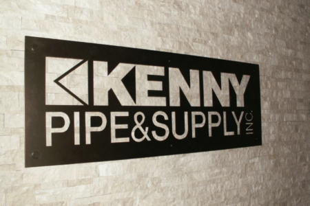 Custom Metal Sign for Kenny Pipe & Supply/ Franklin, TN/ 12-Point SignWorks