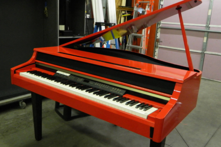 Custom Piano Wrap Fabricated & Installed by 12-Point SignWorks for Kelly Clarkson