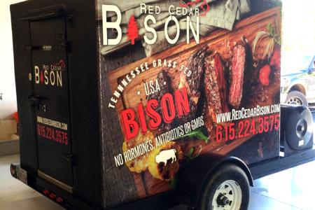Trailer Wrap for Red Cedar Bison/ 12-Point SignWorks/ Franklin TN