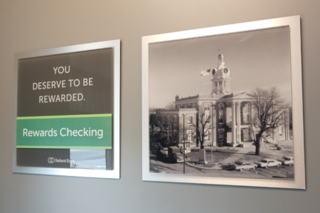 Photo Display & Wall Graphics for Reliant Bank in Murfreesboro, TN/ 12-Point SignWorks