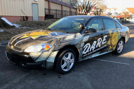 Custom Vehicle Wrap for Robertson County Sheriff's Office/ 12-Point SignWorks/ DARE Program