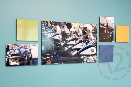 Dimensional Photo Display for SF Police Credit Union in CA/ 12-Point SignWorks