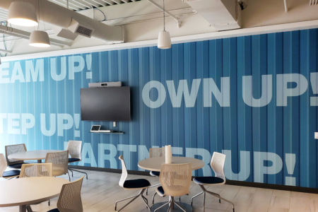 Custom Wall Graphic for SF Police Credit Union in CA/ 12-Point SignWorks/ Wall Graphics
