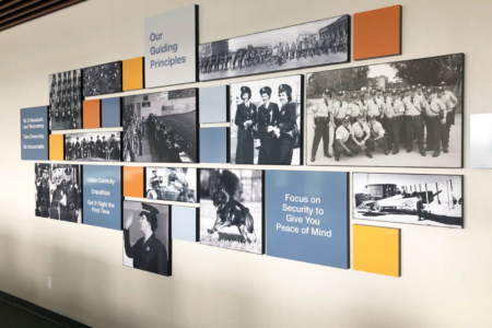 Photo Display for San Francisco Police Credit Union by 12-Point SignWorks.