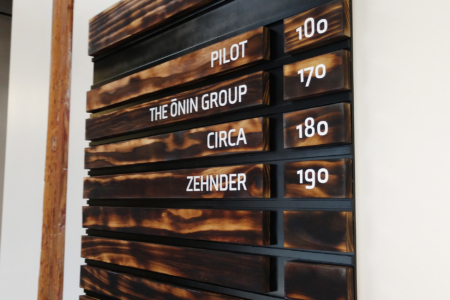 Custom Directory Signage for the Sawtooth Building in Nashville, TN/ 12-Point SignWorks/ Wood Signs/ Aluminum Signs