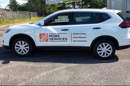 Vehicle Decals Installed by 12-Point SignWorks for Home Depot designed by DIG Solutions