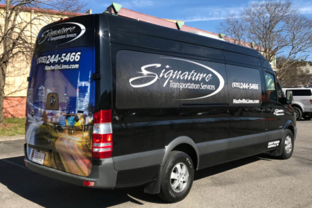 Fleet Graphics for Signature Transportation Service/ 12-Point SignWorks/ Nashville TN