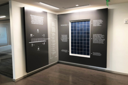 History Wall Display for Silicon Ranch in Nashville