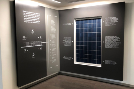 Custom Wall Display for Silicon Ranch by 12-Point SignWorks in Franklin, TN.