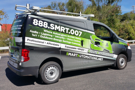 Commercial Van Wrap for Smart Automations/ 12-Point SignWorks