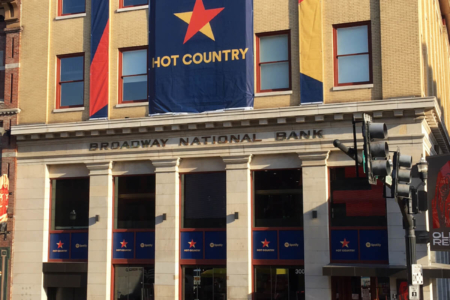 Spotify Hot Country playlist Banners & Window Graphics for Blake Shelton's Ole Red Restaurant in Nashville