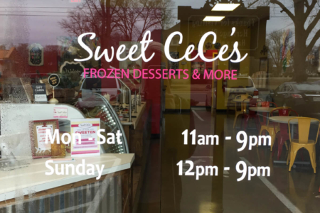 Window Graphics for Sweet Cece's by 12-Point SignWorks in Franklin, TN