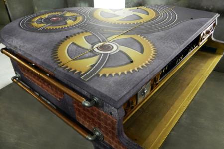 Custom Steampunk Piano Wrap for Taylor Swift/ 12-Point SignWorks/Seale Keyworks in Franklin, TN.