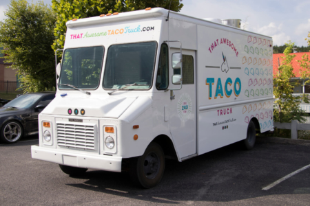 Food Truck Wrap for That Awesome Taco Truck/ 12-Point SignWorks/ Nashville