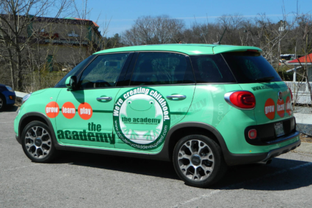 Full Vehicle Wrap Coverage for The Academy in Franklin, Tn/ Fleet Advertising/ 12-Point SIgnWorks