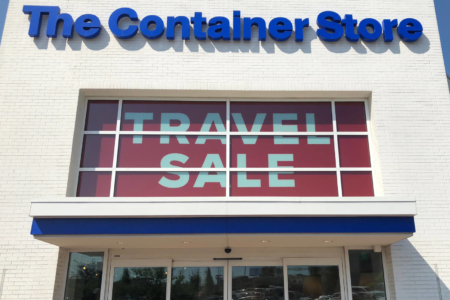 Window graphics for the Container Store in Nashville. 12-Point SignWorks - Franklin, TN