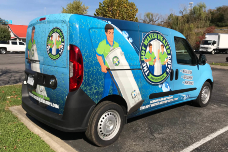 Custom Feet Graphics for The Hot Water Heater Guys/ Middle TN/ 12-Point Signworks