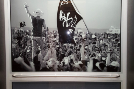 Elevator Graphic/ Concert Photography of Kenny Chesney Performing: The Morris/ Nashville/ 12-Point SignWorks
