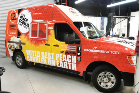 Food Truck Wrap for the Peach Cobbler Factory/ Middle TN/ 12-Point SignWorks