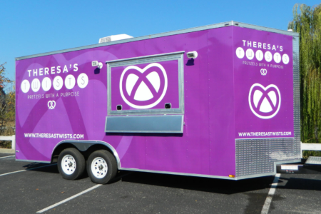 Custom Trailer Wrap for Theresa's Twists/ 12-Point SignWorks/ Franklins