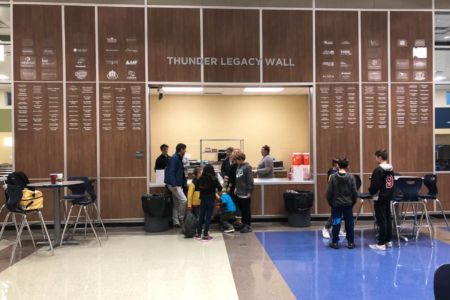 Legacy Wall for Thompson's Station Middle School by 12-Point SignWorks in Franklin, TN.