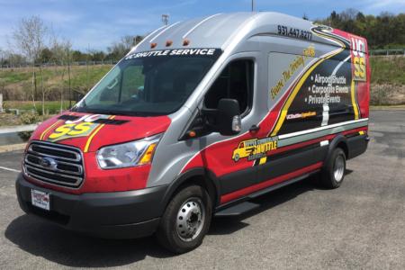 Advertising Wrap for Upper Cumberland Shuttle Service (UCSS)/ 12-Point SignWorks/ Nashville