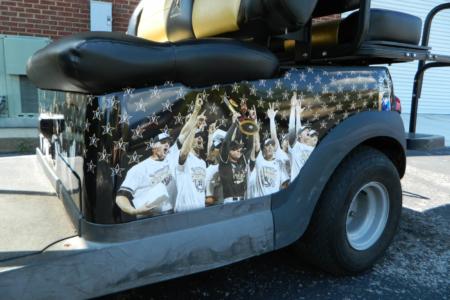 Custom Golf Cart Wrap for Vanderbilt University in Nashville, TN