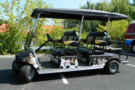 Custom Golf Cart Wrap for Vanderbilt University/ Nashville/ 12-Point SignWorks