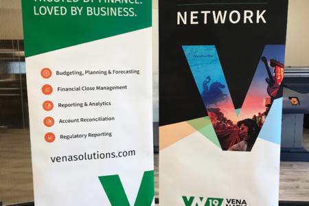 Retractable Banners for Vena Solutions by 12-Point SignWorks in Franklin, TN.