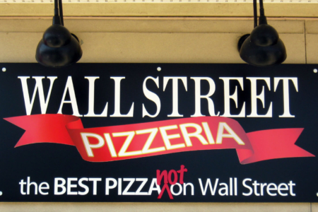 Custom Storefront Signage for Wall Street Pizzeria. 12-Point SignWorks- Franklin, TN