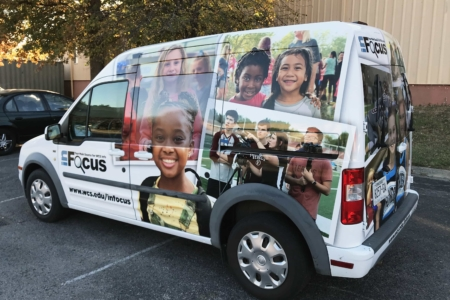 Van Wrap for WCS InFocus Program/ Installed by 12-Point SignWorks in Franklin, TN