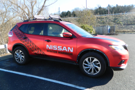 Vehicle Decals for Nissan of Cool Springs/ Franklin/ 12-Point SignWorks